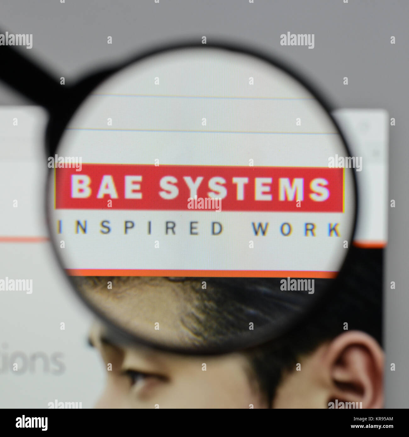Milan Italy August 10 2017 Bae Systems Logo On The Website