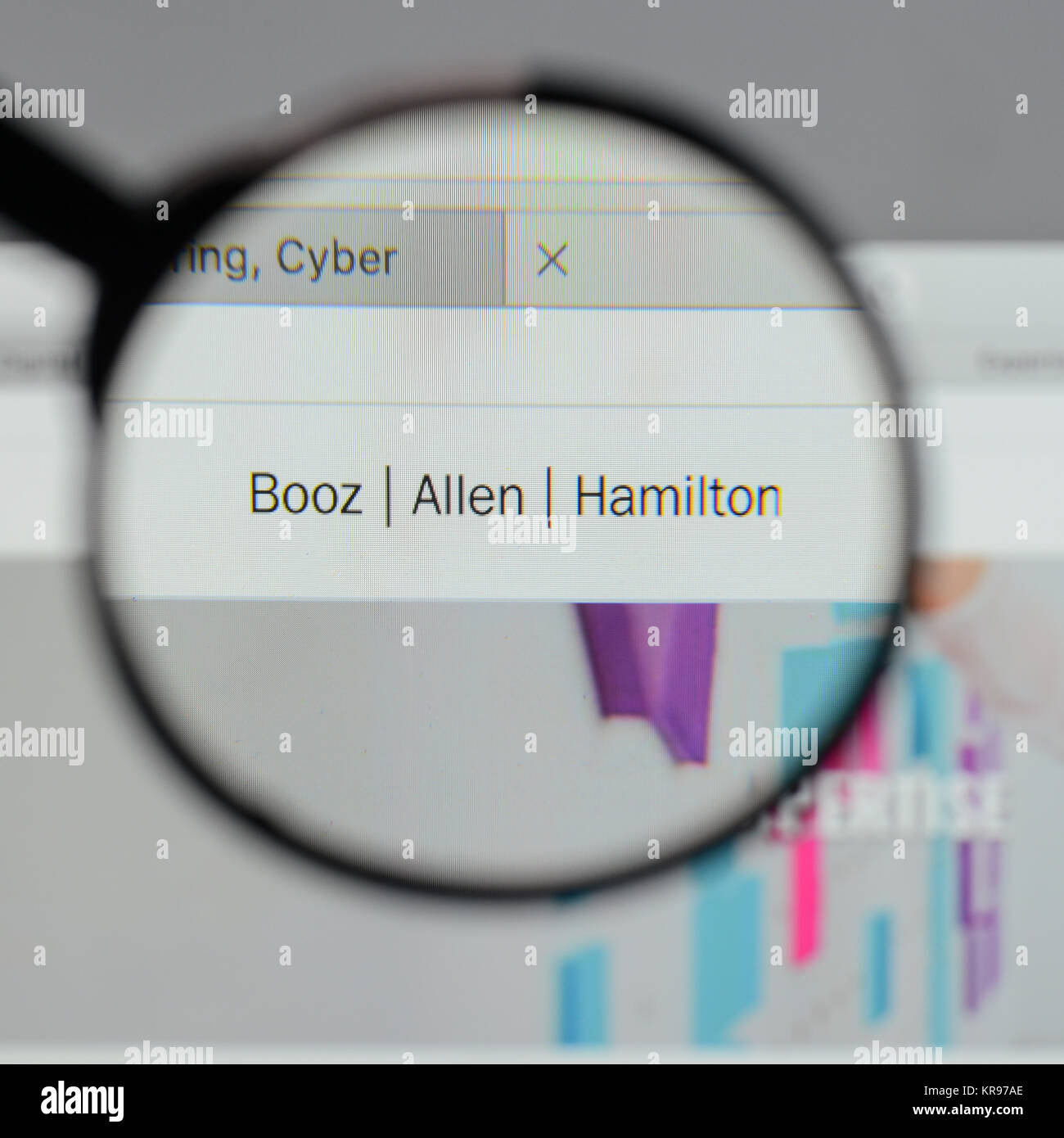 Milan Italy August 10 2017 Booz Allen Hamilton Holding Logo On