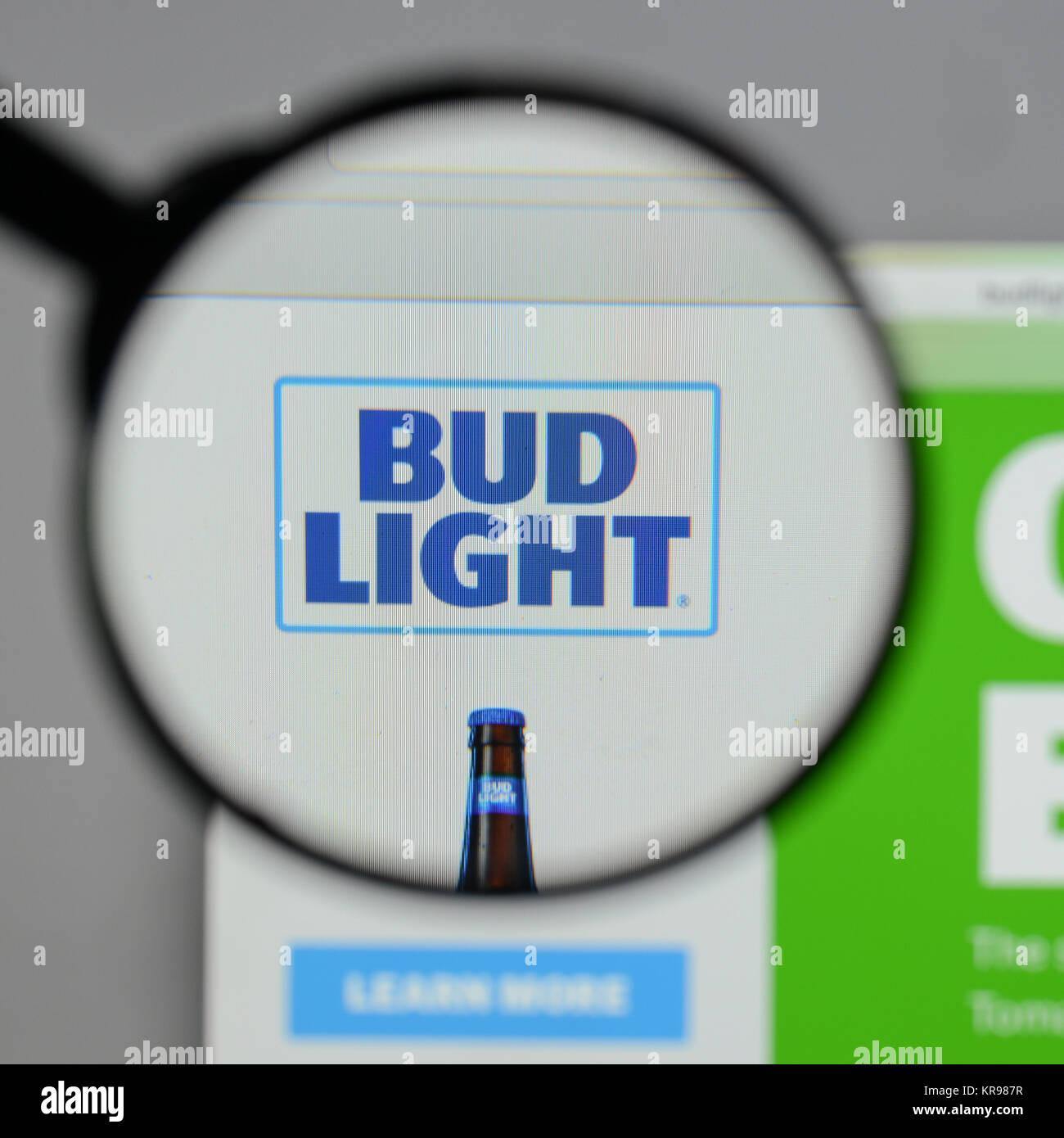 Milan Italy August 10 2017 Bud Light Logo On The Website Stock