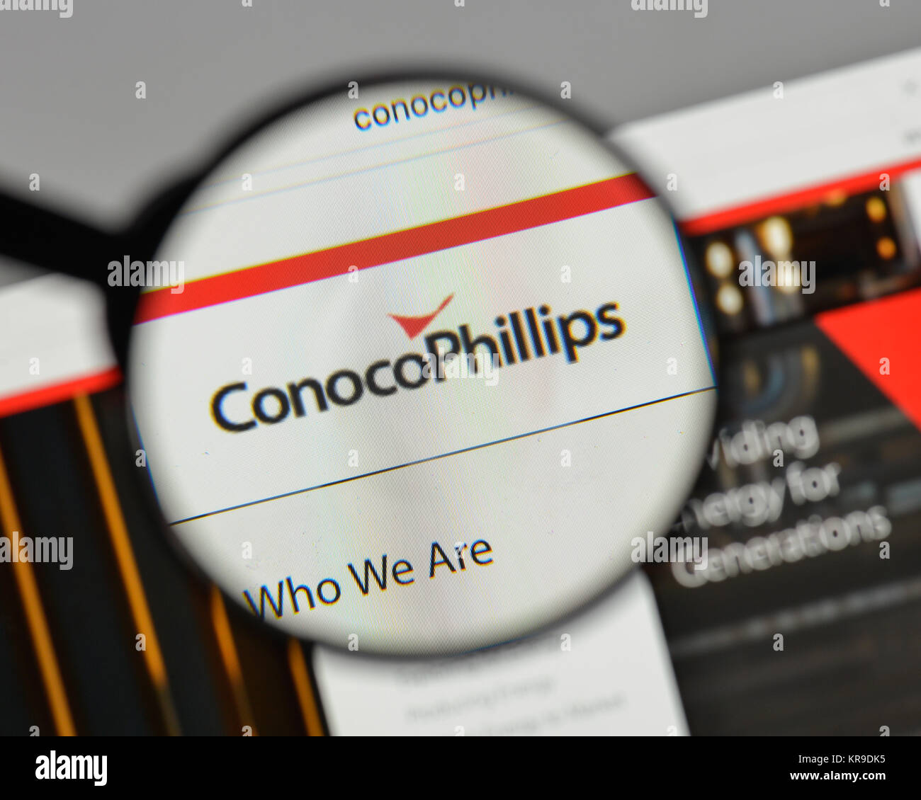 Milan Italy August 10 2017 Conoco Phillips Logo On The Website