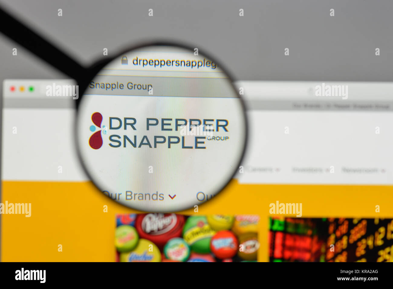 Milan Italy August 10 2017 Dr Pepper Snapple Group Logo On The