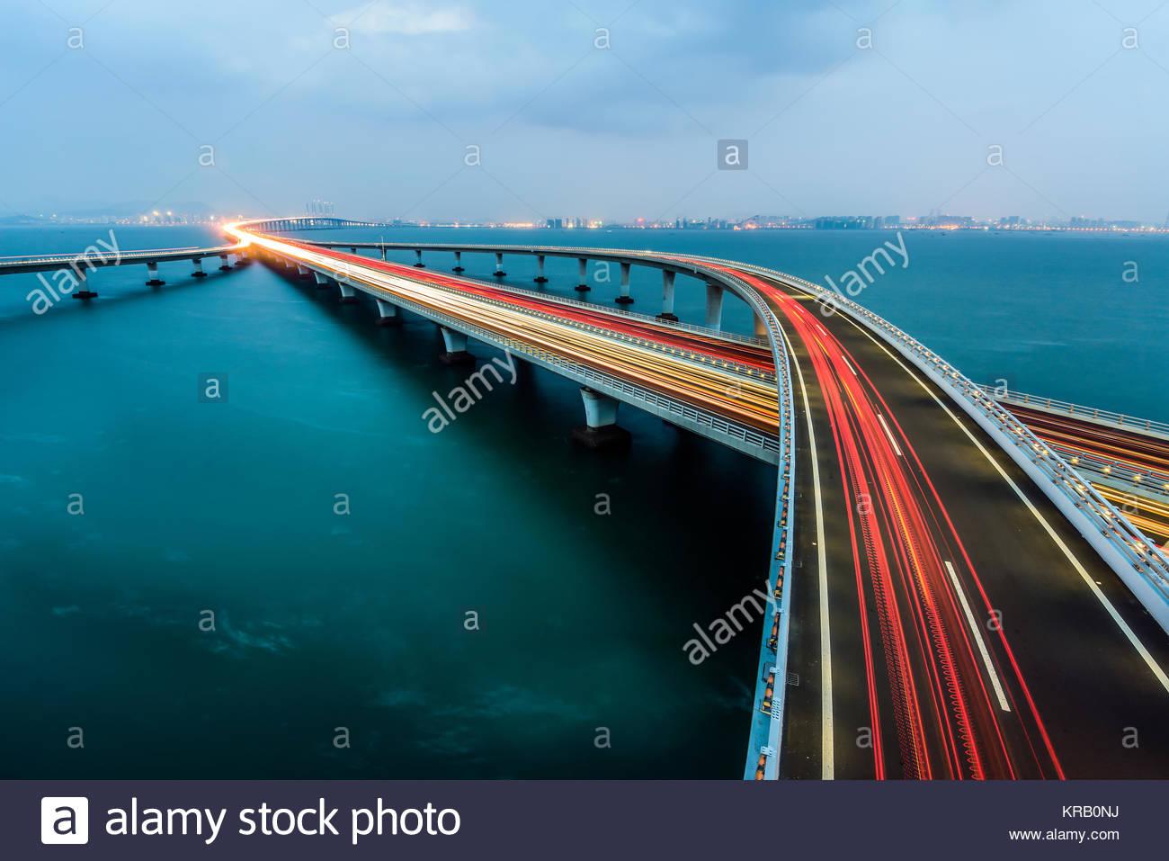 Qingdao Haiwan Bridge Jiaozhou Bay Bridge Stock Photos Amp Jiaozhou Bay Bridge