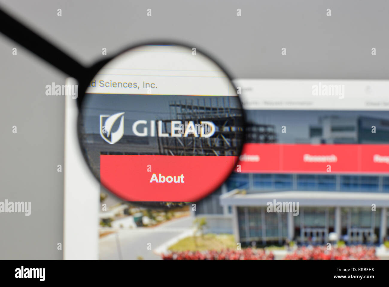 Milan Italy August 10 2017 Gilead Sciences Logo On The Website