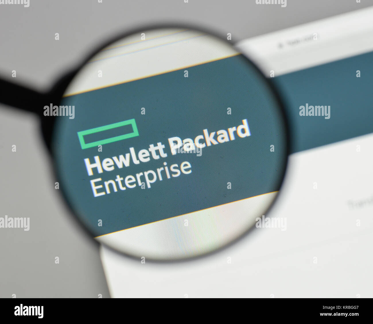 Milan Italy August 10 2017 Hewlett Packard Enterprise Logo On