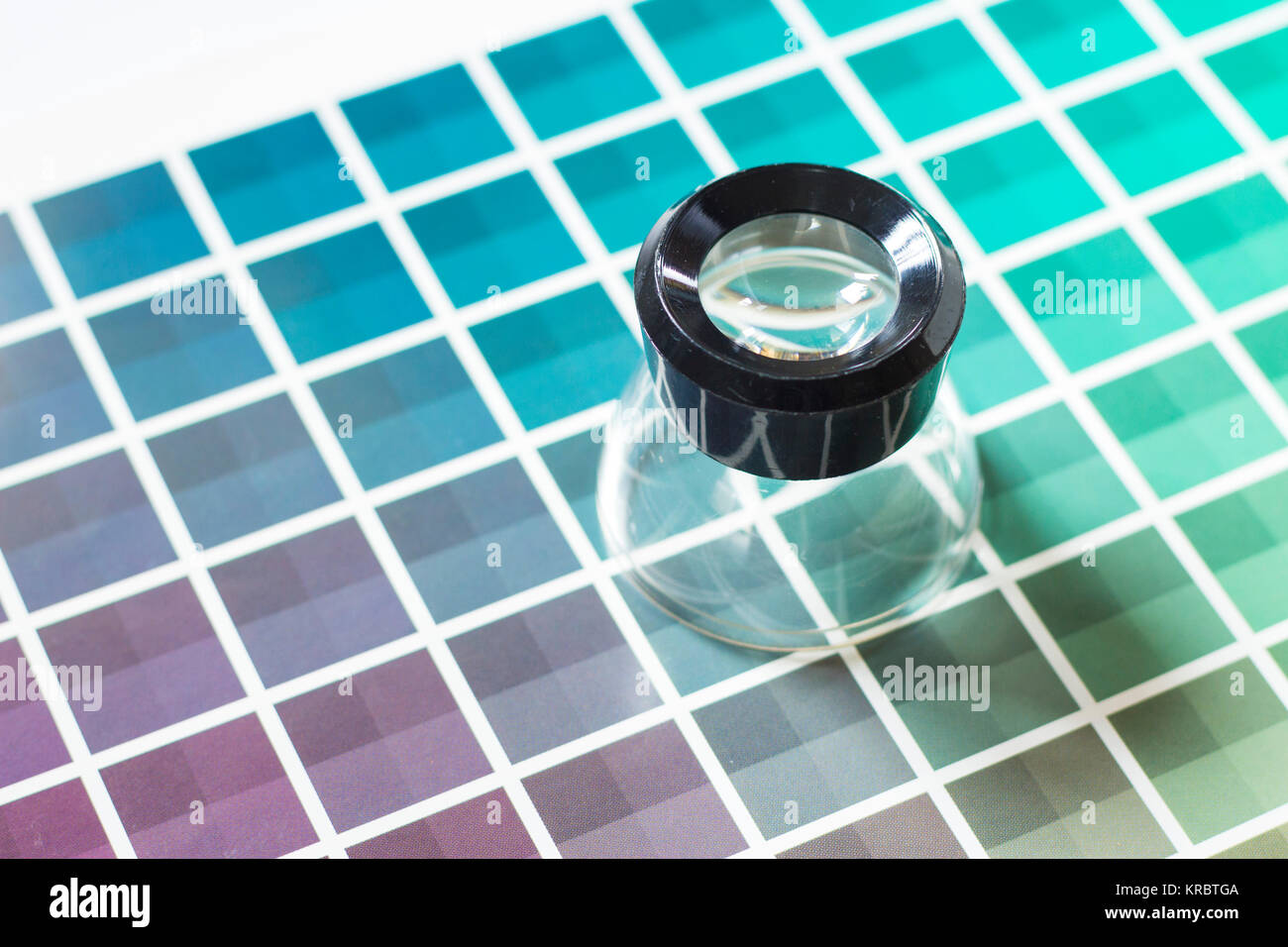 Pink and red colour chart stock photos pink and red colour chart magnifier on a color chart stock image nvjuhfo Image collections