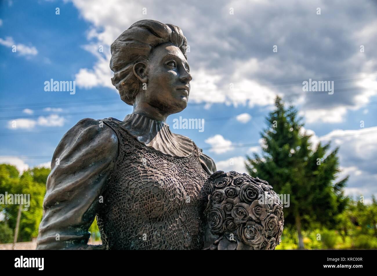 Statue Of The Countess Elizabeth Von Arnim In Village Buk West