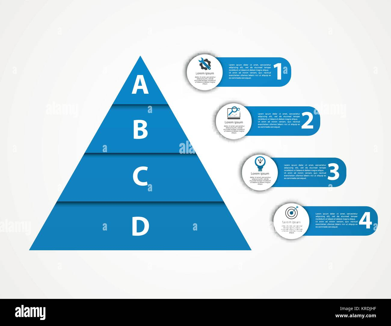 modern vector illustration 3d pyramid template infographics with