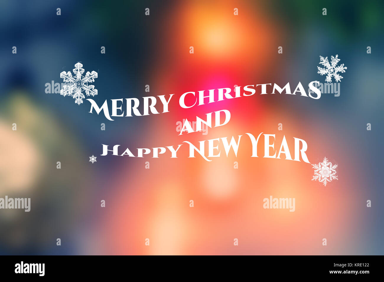 Elegant Merry Christmas And Happy New Year Card Design Greeting