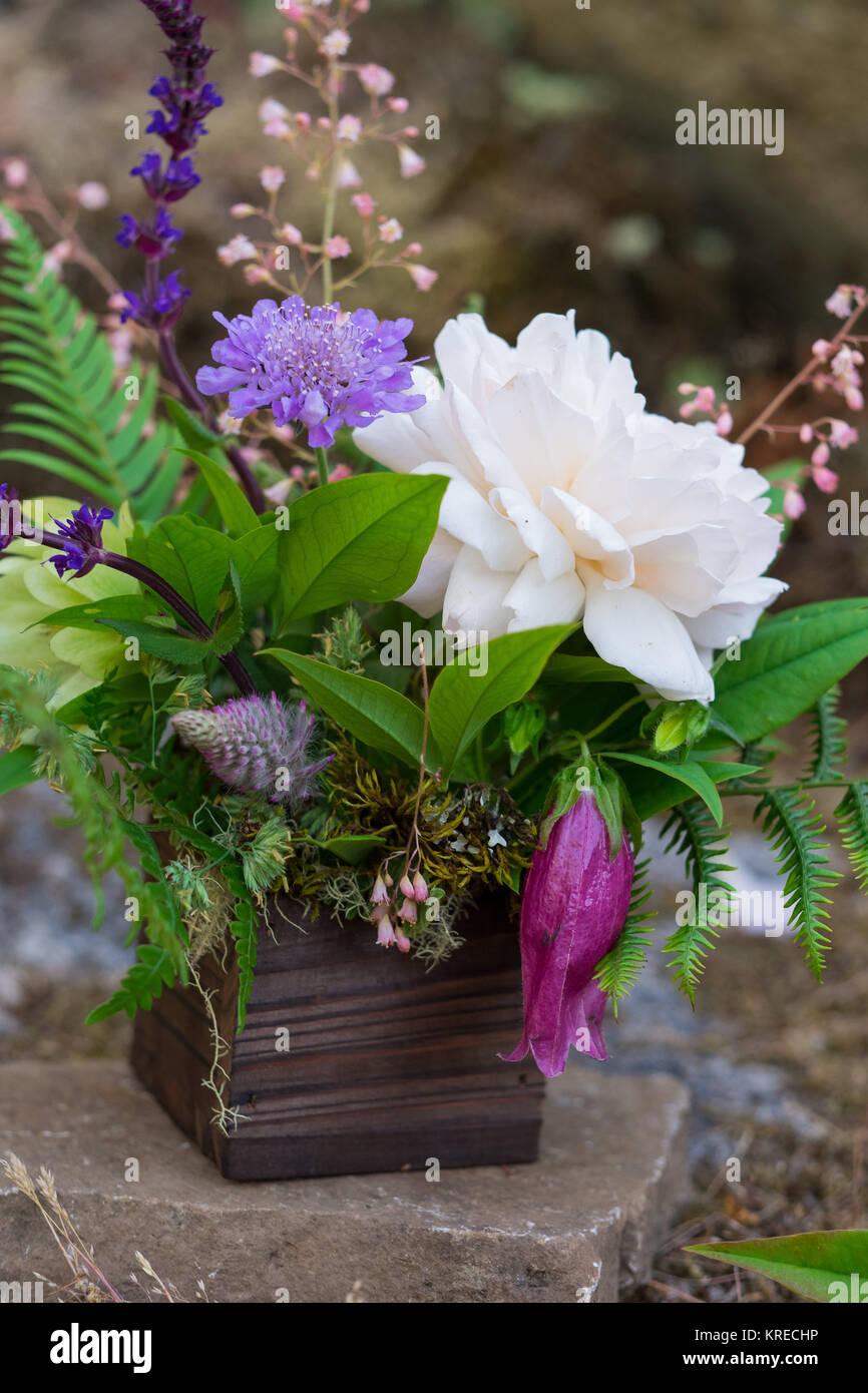 Natural And Native Species Wedding Florist Arrangement Of Flowers