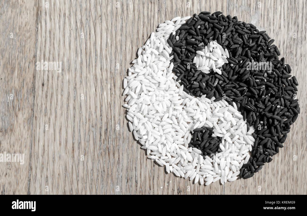 Rice Yin Yang Stock Photo 169353865 Alamy