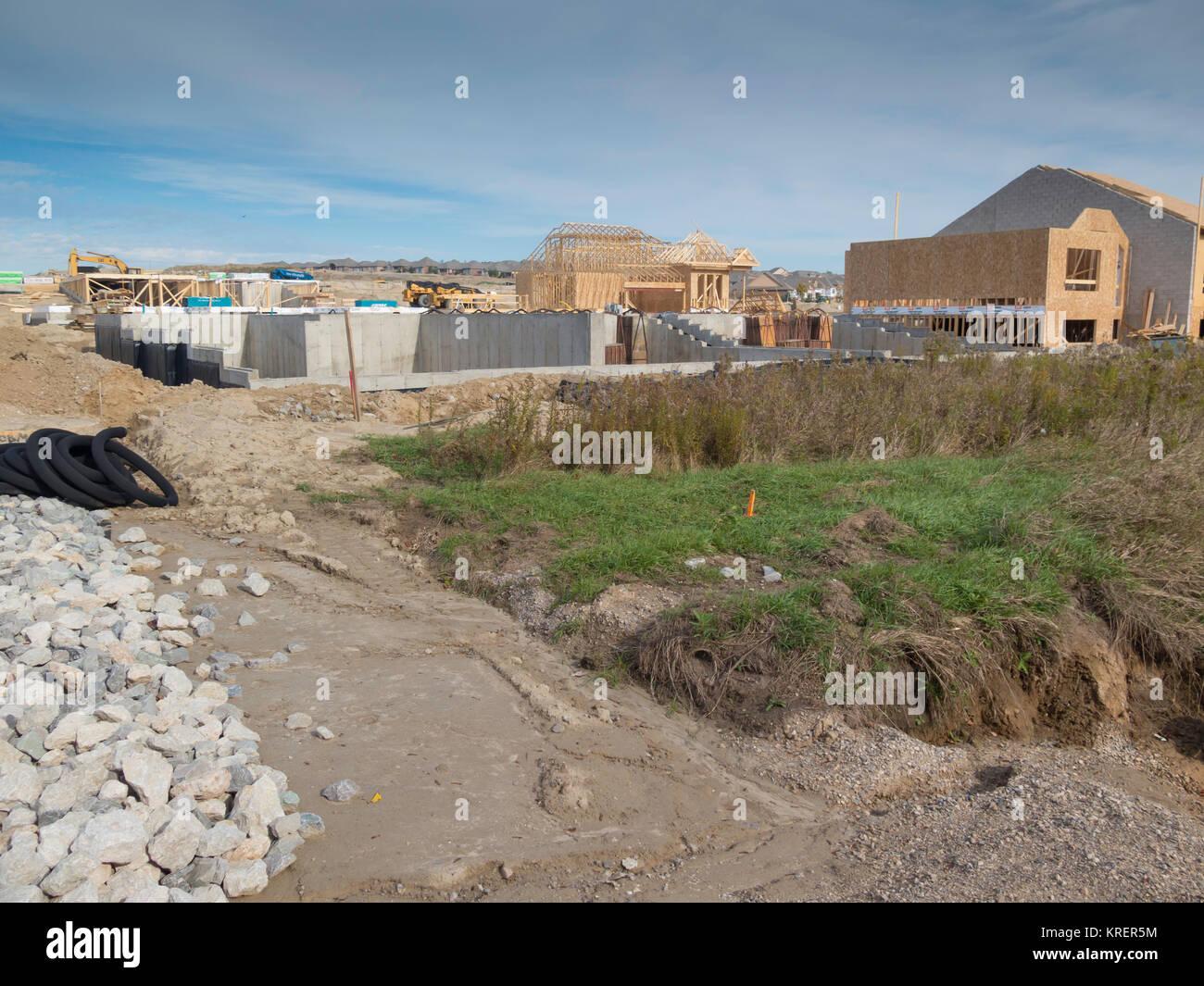 Construction subdivision stock photos construction for Building a house in ontario