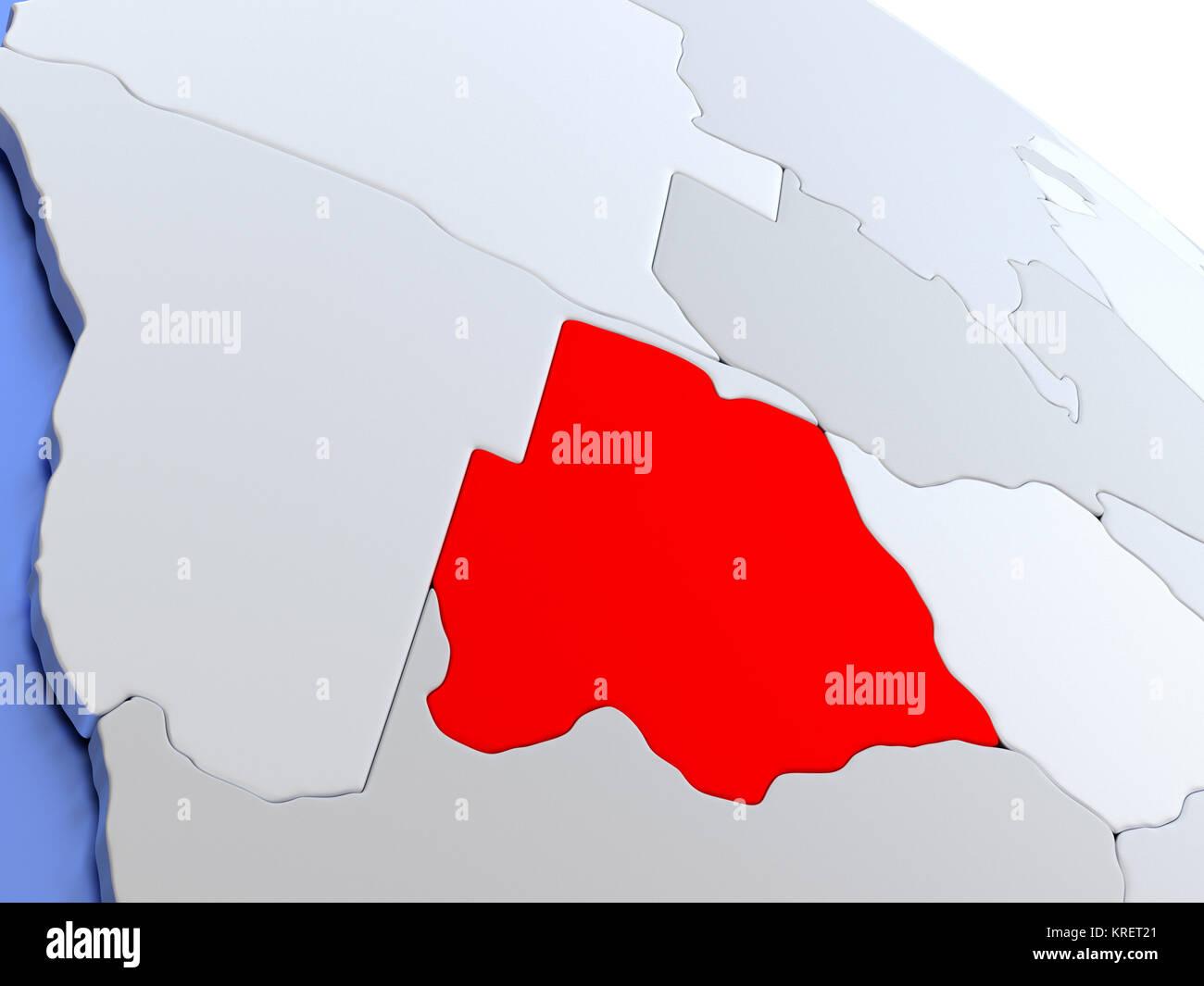 Botswana on world map stock photo royalty free image 169356601 botswana on world map gumiabroncs Image collections