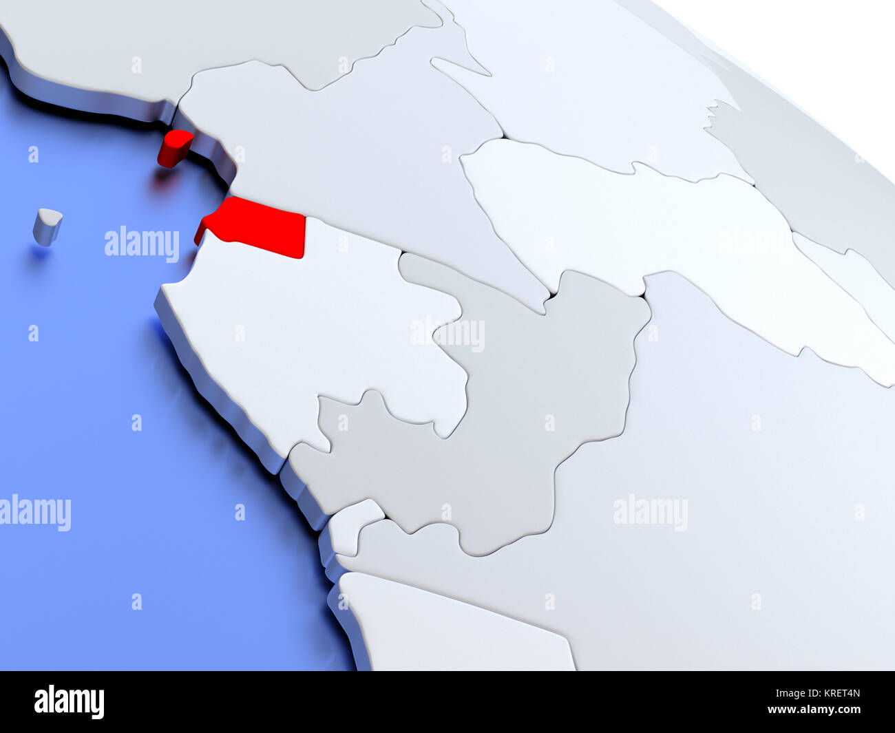 Equatorial guinea on world map stock photo 169356677 alamy equatorial guinea on world map gumiabroncs Image collections
