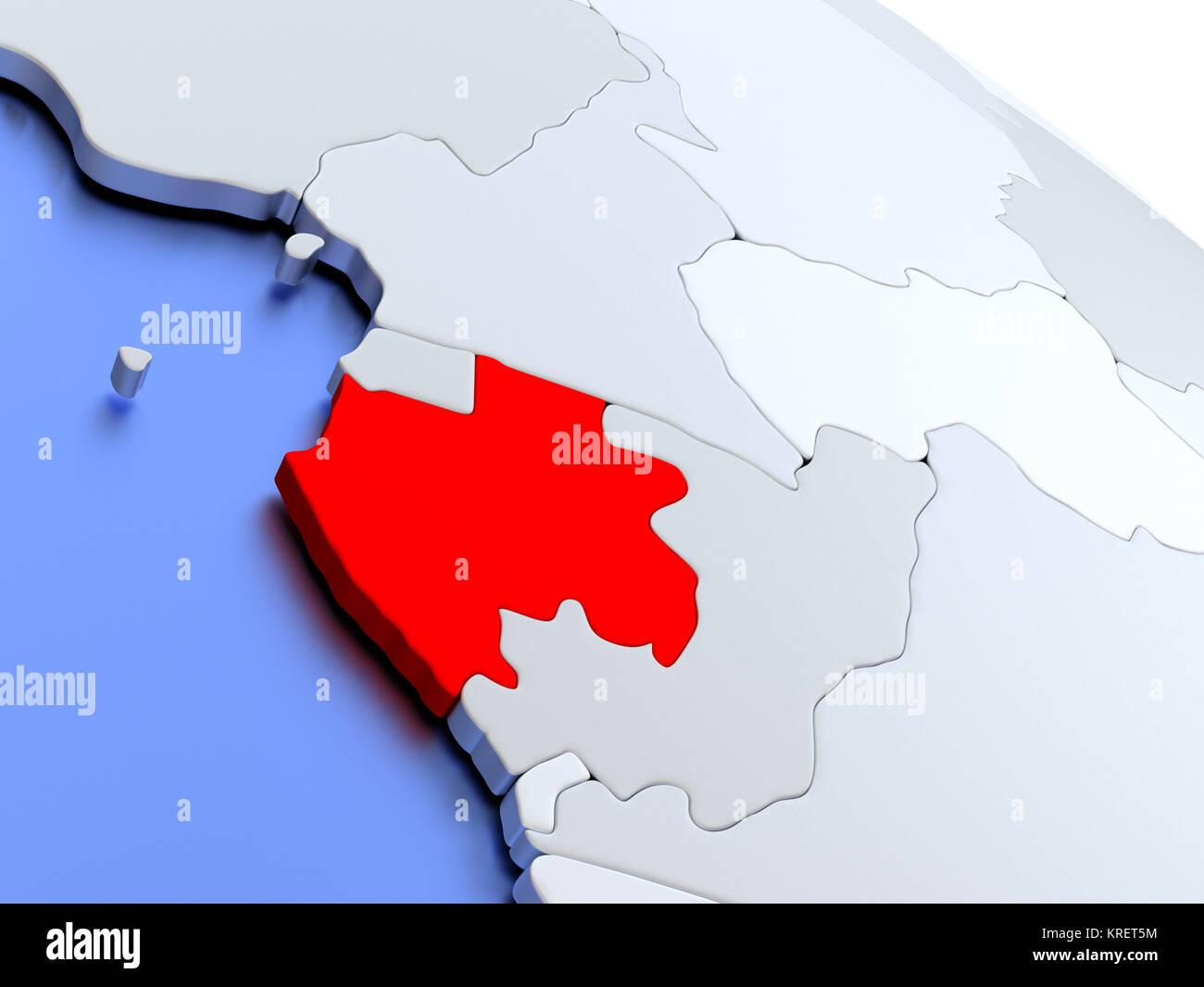 Gabon World Map.Gabon On World Map Stock Photo 169356704 Alamy