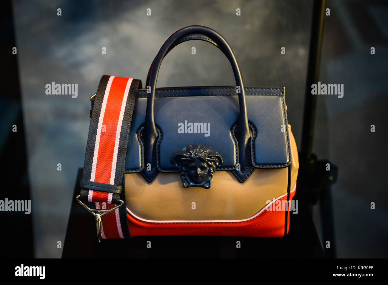 452f4892c236 Stock photo milan italy september versace bag in a store in milan jpg  1300x956 Leather versace
