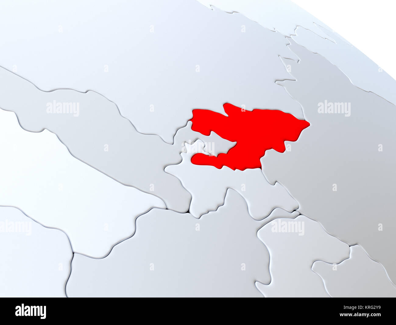 Kyrgyzstan on world map Stock Photo Royalty Free Image 169383965