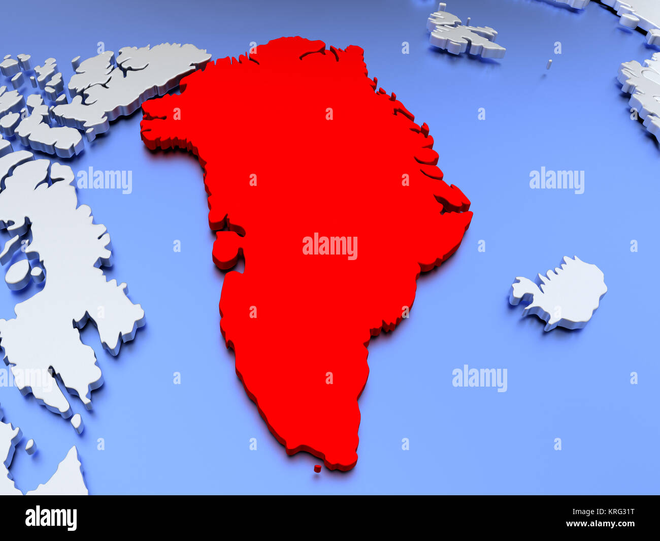 Greenland on world map stock photo 169384036 alamy greenland on world map gumiabroncs Images