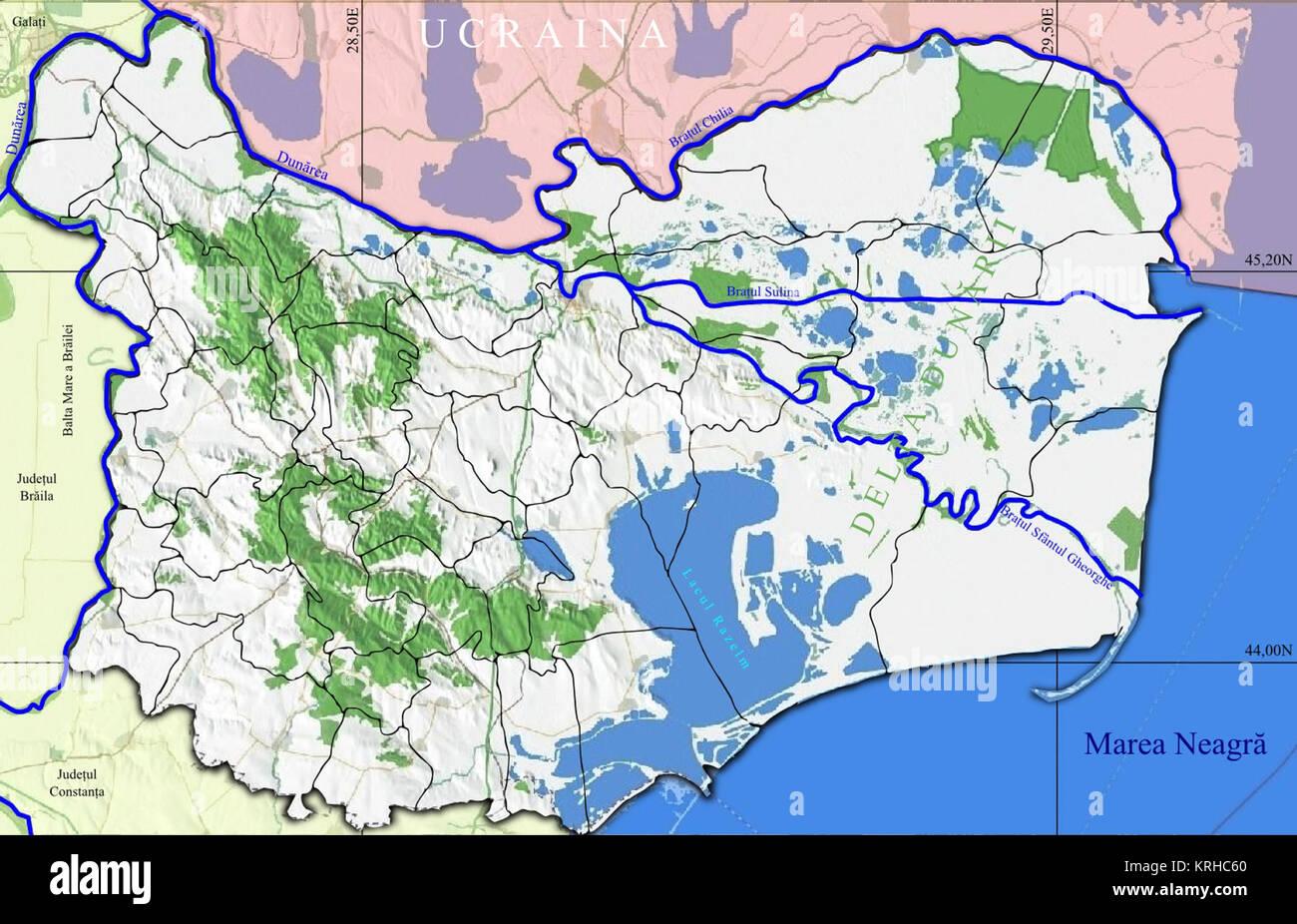 Romania relief Tulcea Location map Stock Photo: 169413160 - Alamy