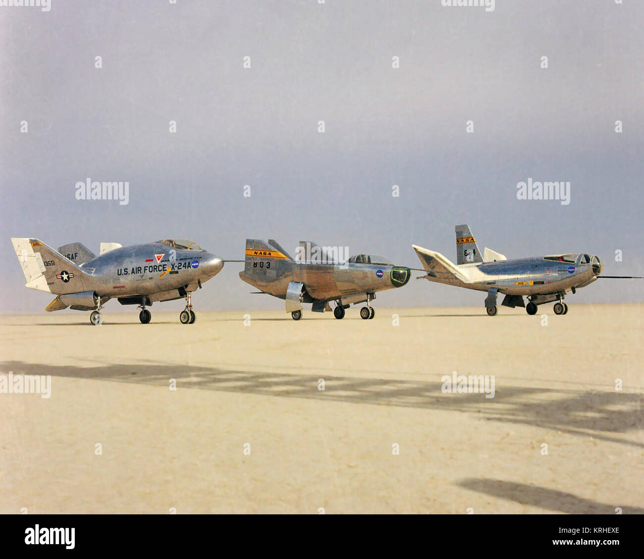 ECN-2353 The wingless, lifting body aircraft sitting on Rogers Dry Lake at  what is now NASA's Dryden Flight Research Center, Edwards, California, ...