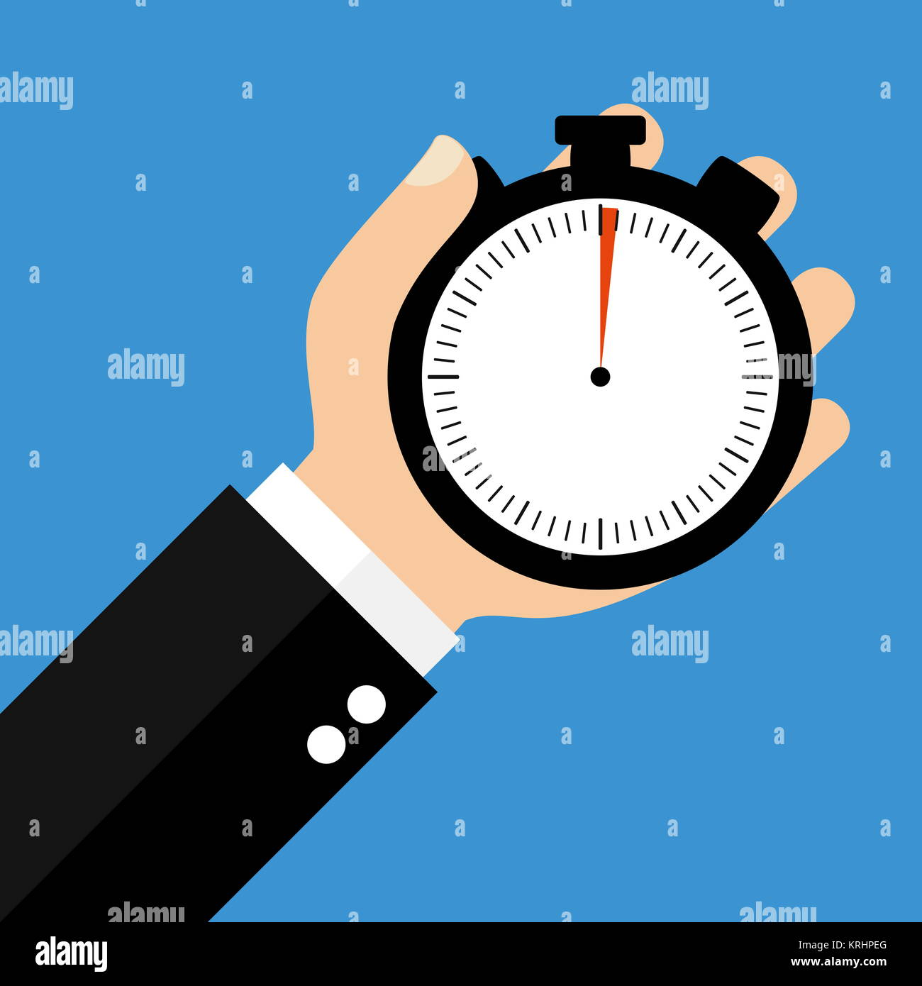 hand with stopwatch 1 second or 1 minute stock photo 169421240 alamy