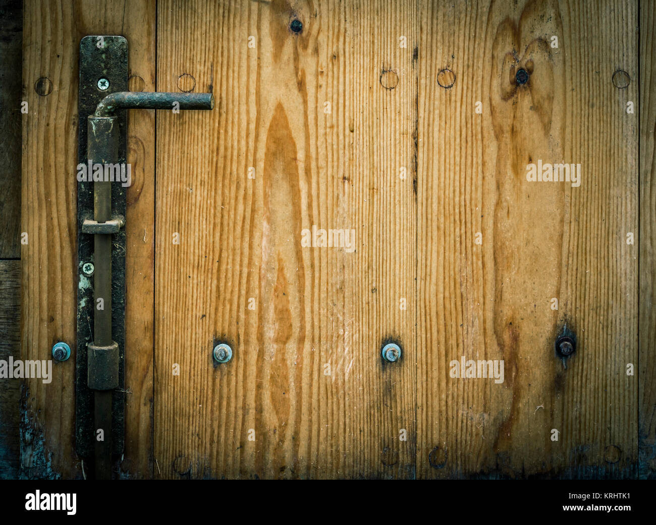 Wooden trap door with iron latch Stock Photo, Royalty Free Image ...