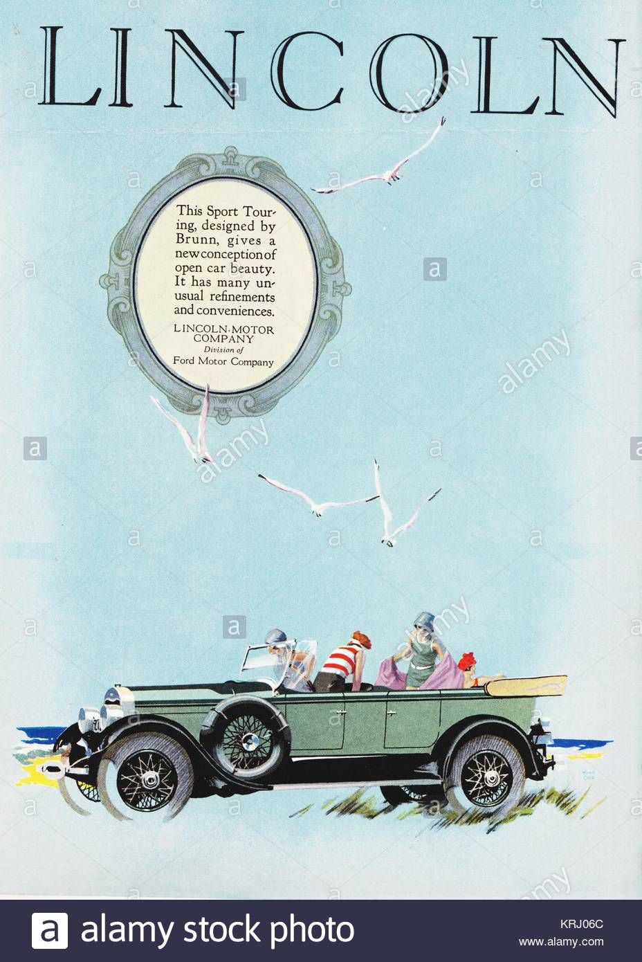 Lincoln Sport Touring Car 1926 Model Made By The Lincoln Motor Stock