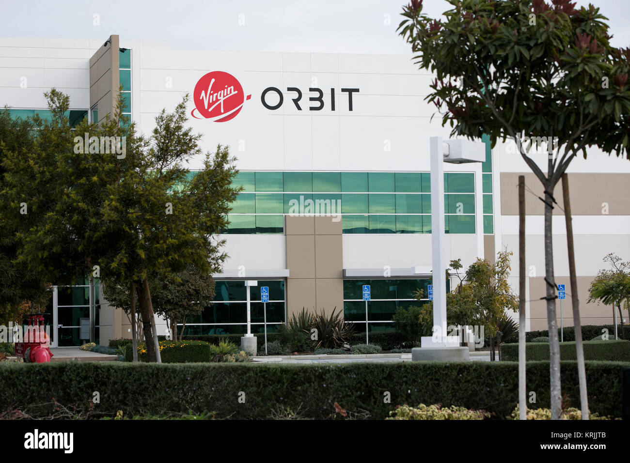 Virgin galactic stock photos virgin galactic stock images alamy a logo sign outside of the headquarters of virgin orbit in long beach california buycottarizona