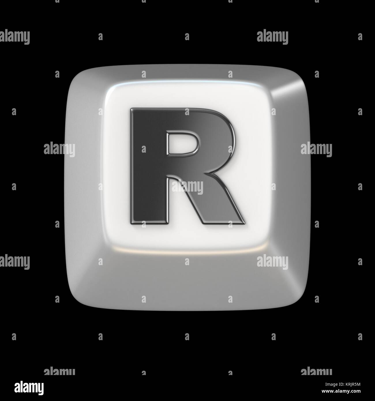 Computer Keyboard Key Font Letter R 3d Stock Photo 169443728 Alamy