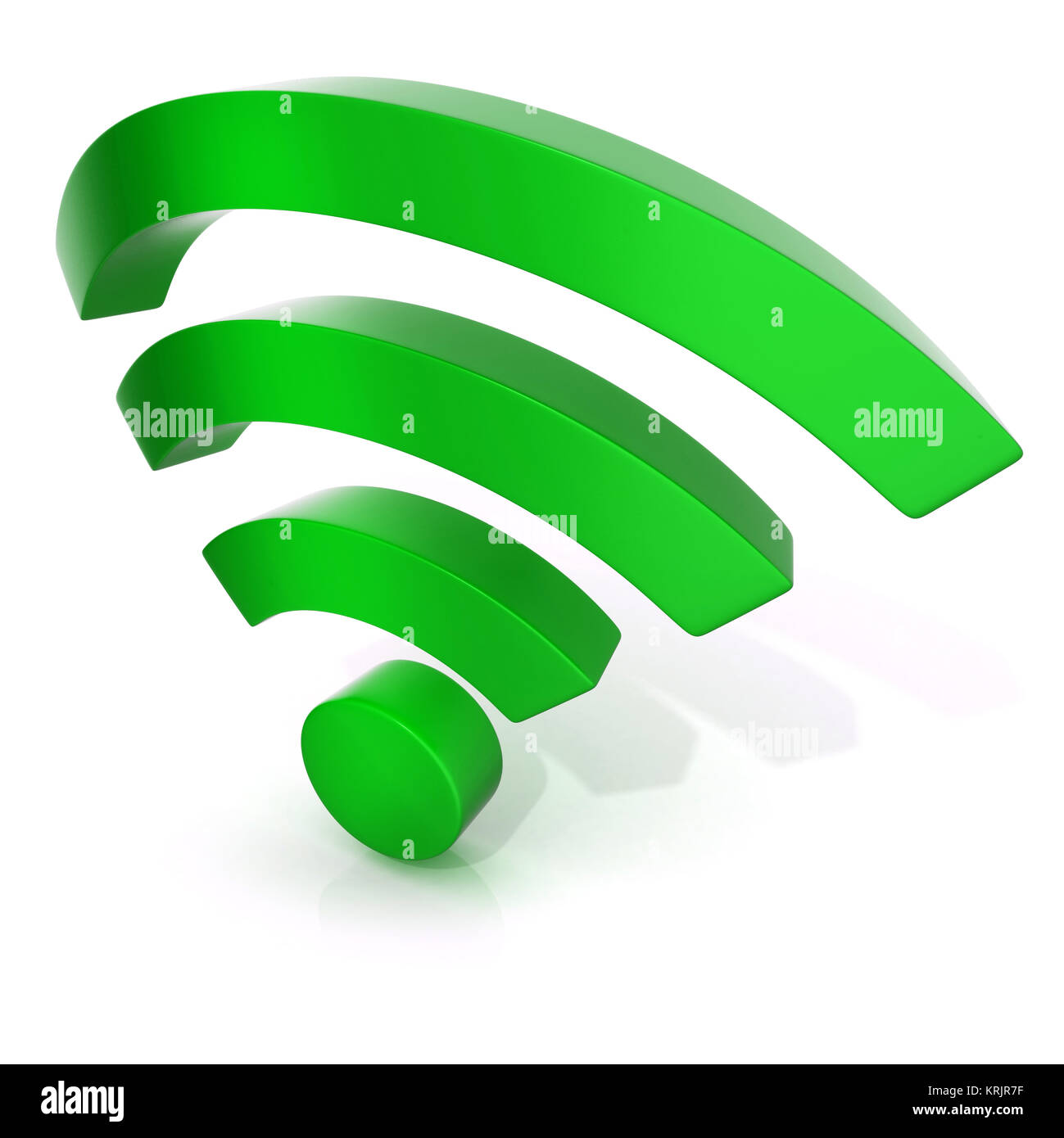 Wireless Network Symbol 3d Stock Photo 169443779 Alamy