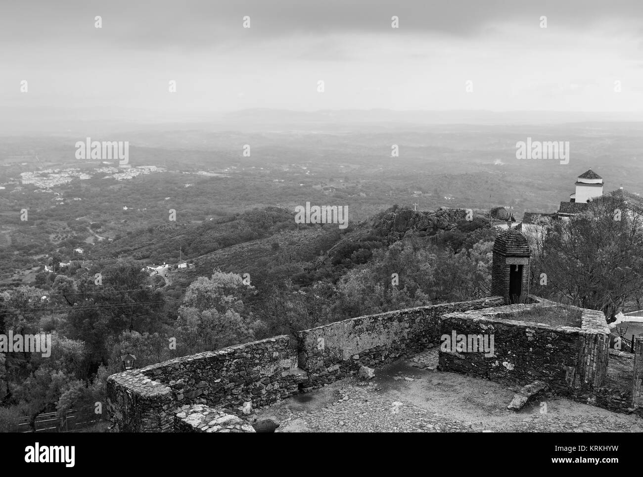 Photographed From The Old Military Fortress Marvão. Portugal Nice Design