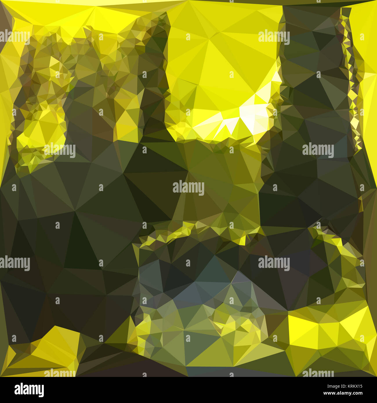 Polygon Gmbh electric lime yellow abstract low polygon background stock photo