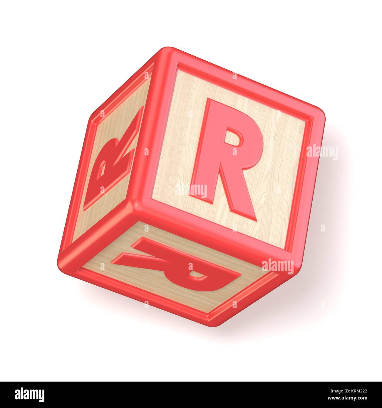 Letter R Wooden Alphabet Blocks Font Rotated 3d Stock Photo