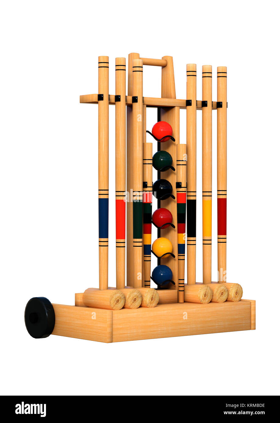 Croquet cut out stock images pictures alamy 3d rendering croquet stand on white stock image pooptronica Image collections
