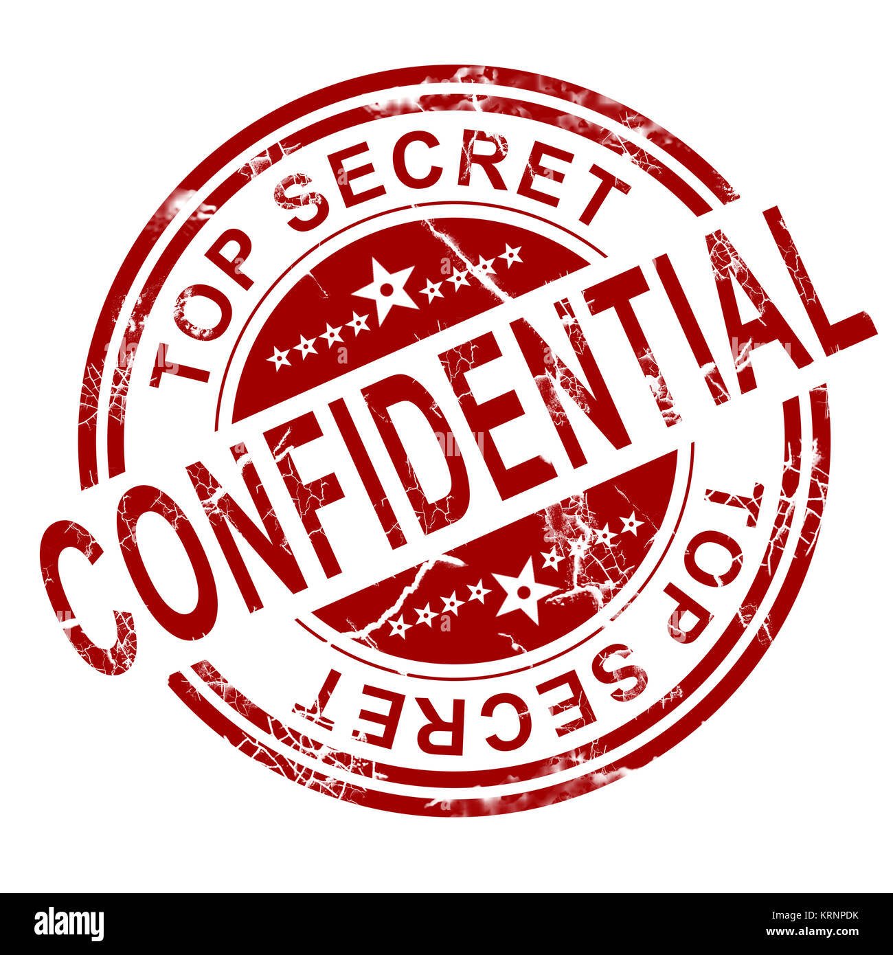 Red Confidential Stamp Stock Photo 169509023