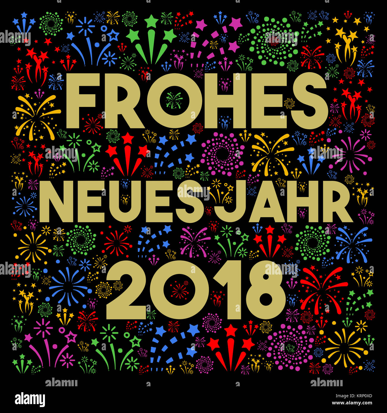 Happy New Year 2018 In German