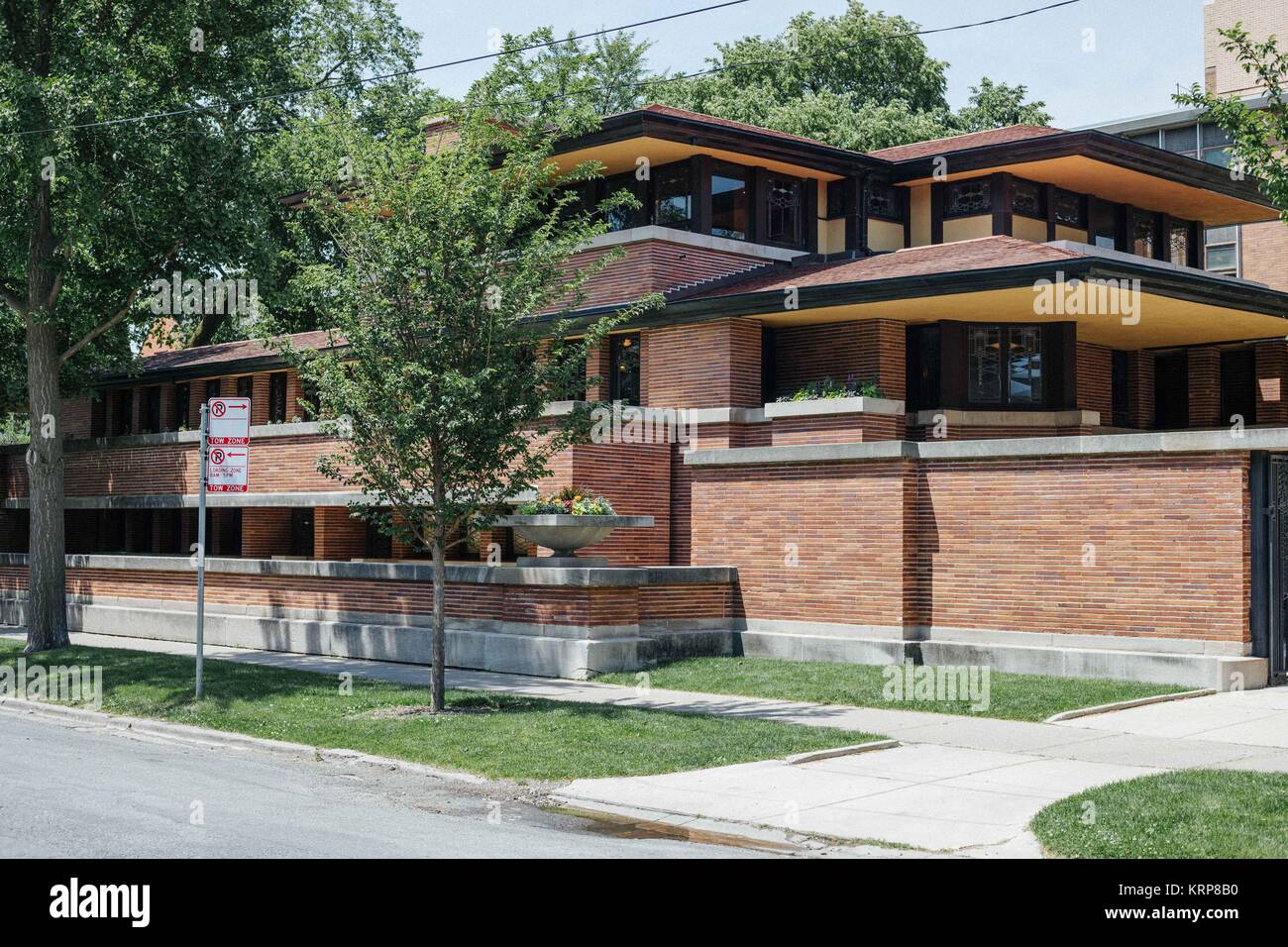 frederick c robie house by frank lloyd wright stock photo