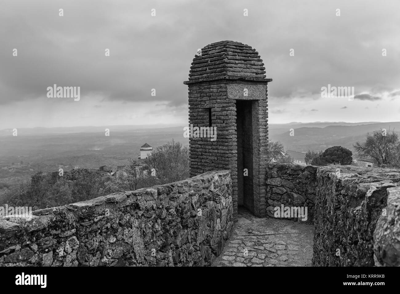 Photographed From The Old Military Fortress Marvão. Portugal