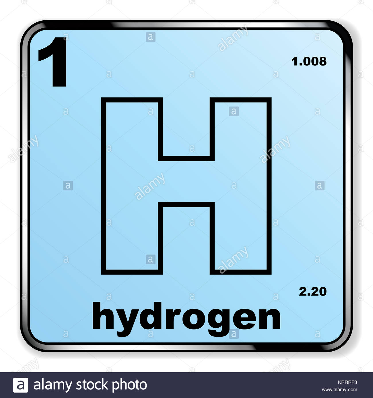 Hydrogen chemical element stock photos hydrogen chemical element stock images alamy - Hydrogen on the periodic table ...