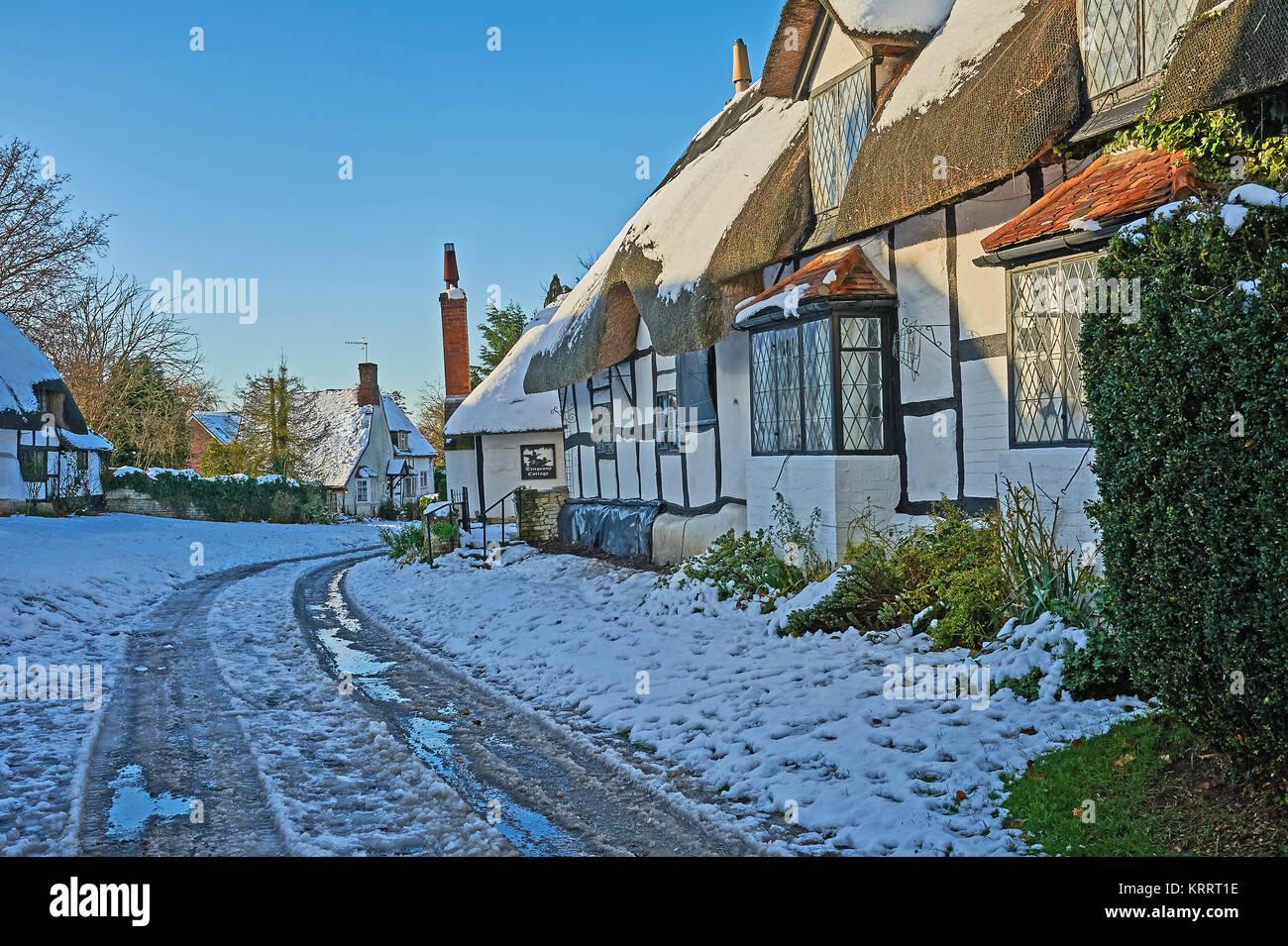 Warwickshire Winter Village Stock Photos Amp Warwickshire