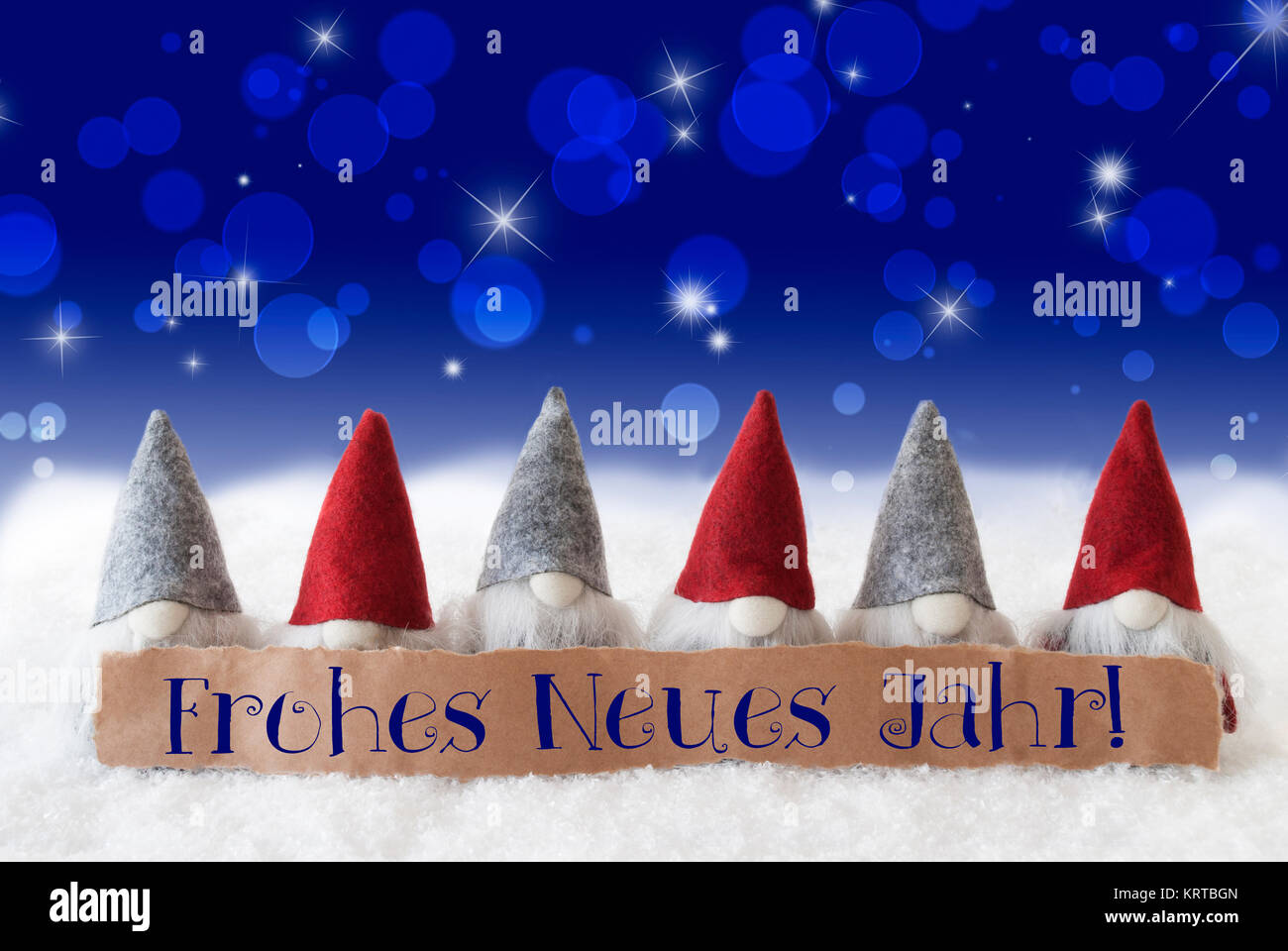Label With German Text Frohes Neues Jahr Means Happy New Year Stock ...