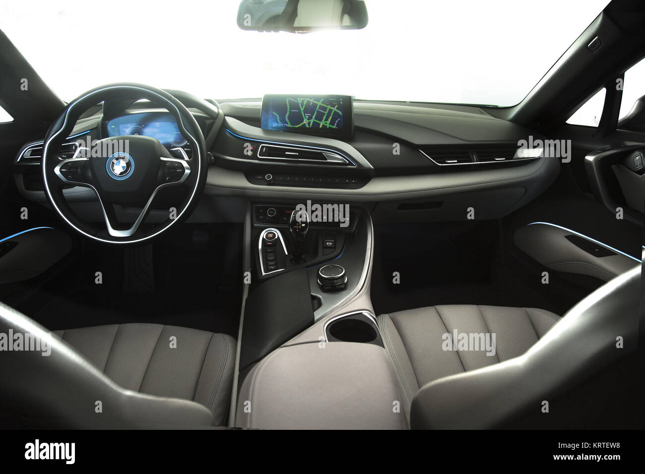 Bmw I8 Coupe Blue Black Exterior Interior Stock Photo 169568932