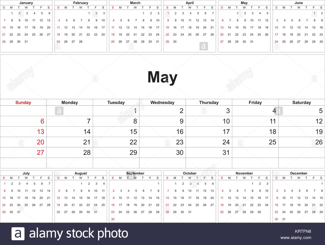 May Calendar Vector : Calendar page tuesday stock photos