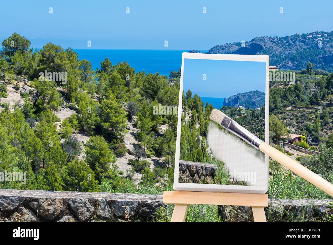 Maler mallorca stock photos maler mallorca stock images alamy - Bemalte leinwande ...