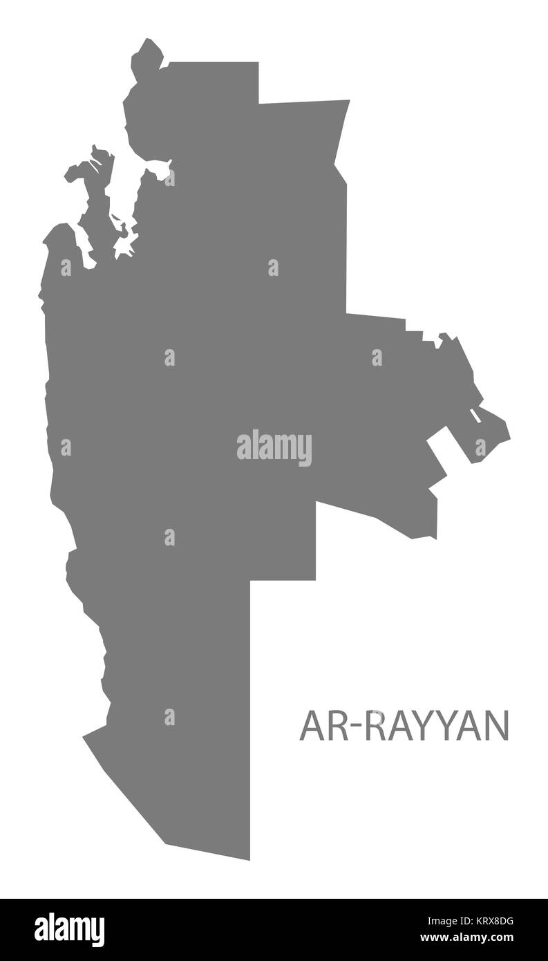 ArRayyan Qatar Map grey Stock Photo 169607804 Alamy