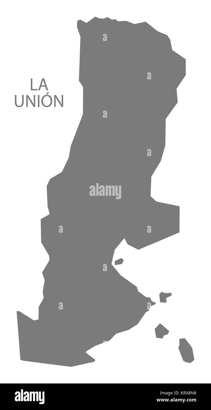 La Union El Salvador Map Grey Stock Photo Royalty Free Image - Launion map