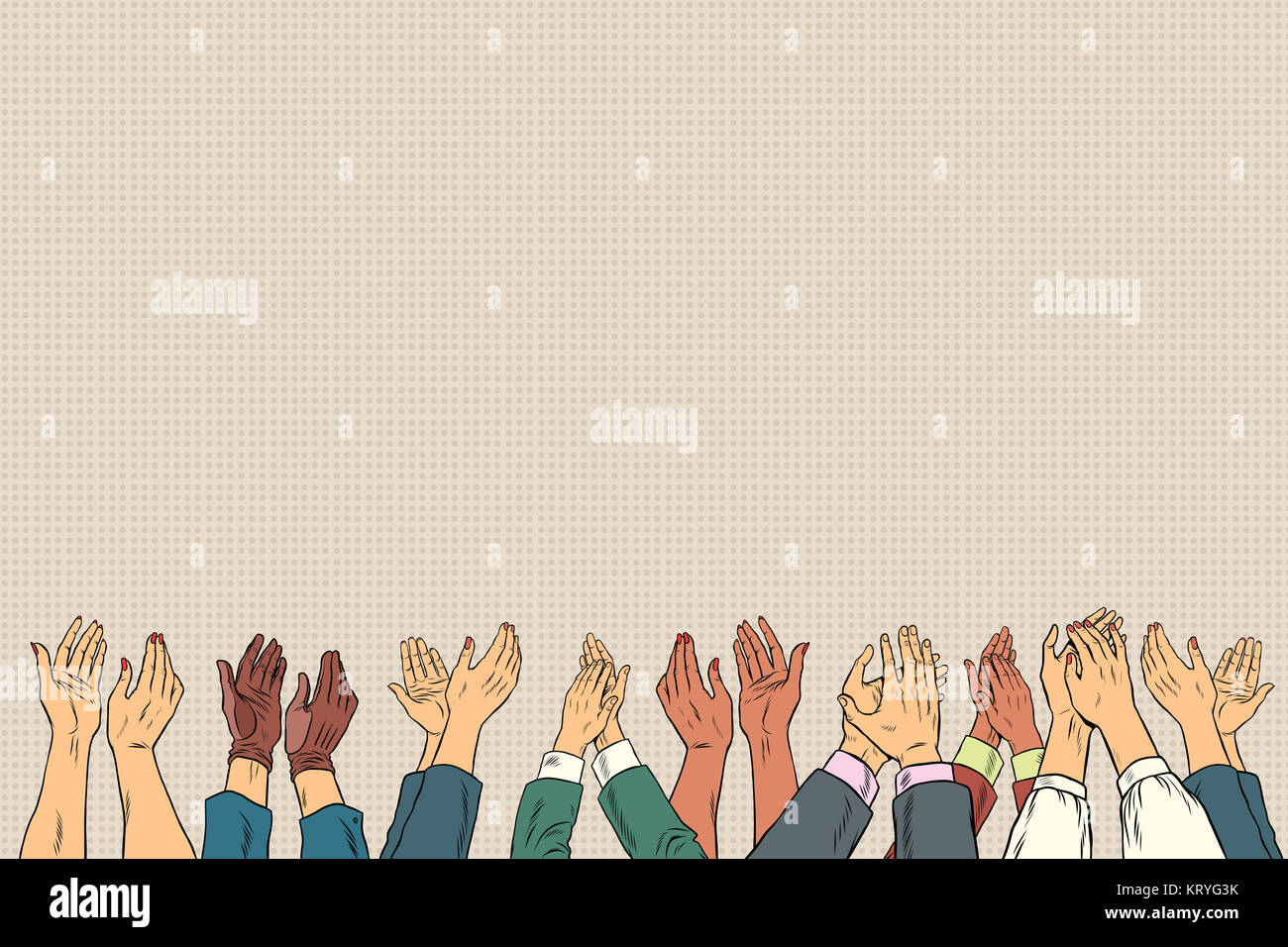 applause hands up in business conference stock photo 169635751 alamy