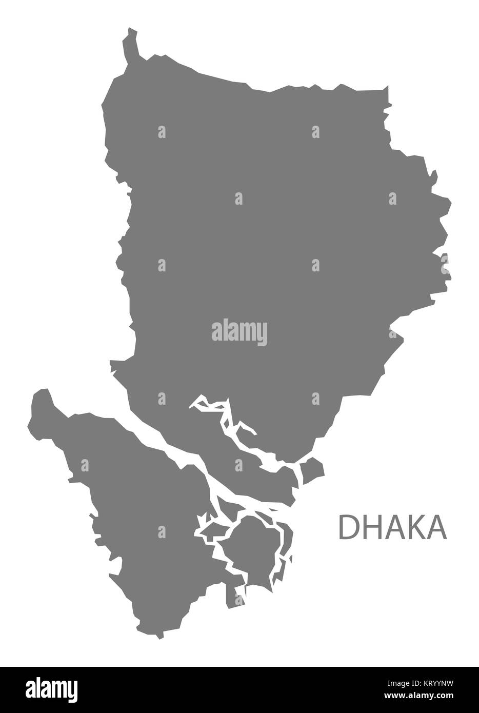 Dhaka Bangladesh Map grey Stock Photo: 169644885 - Alamy