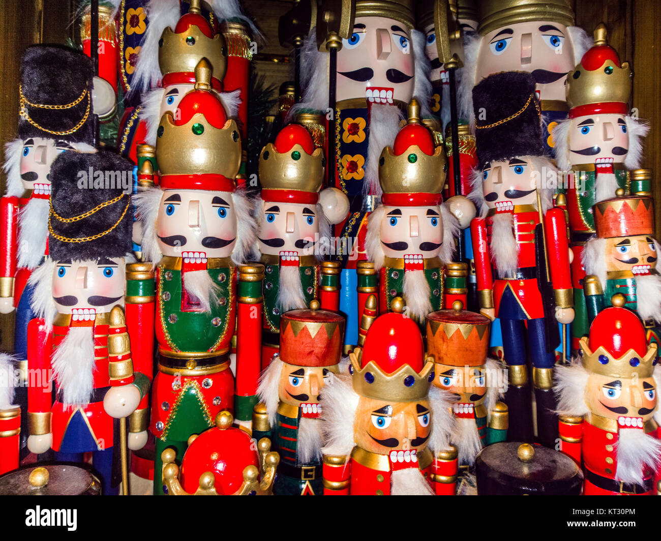 Christmas nutcracker toy soldier collection. Various traditional ...