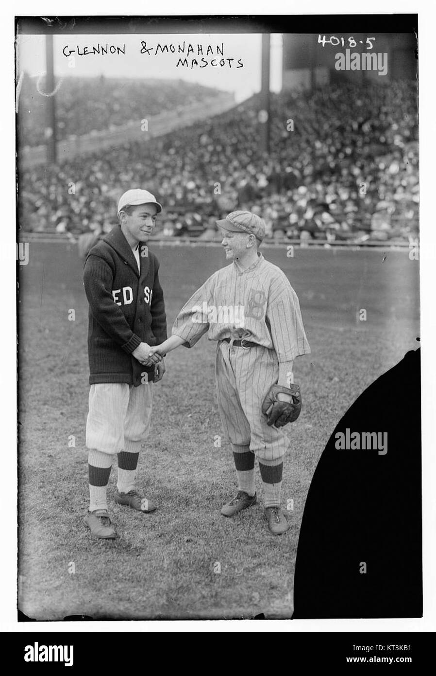 Red sox dodgers stock photos red sox dodgers stock images alamy glennon monahan mascots red sox dodgers 1916 world series buycottarizona Image collections