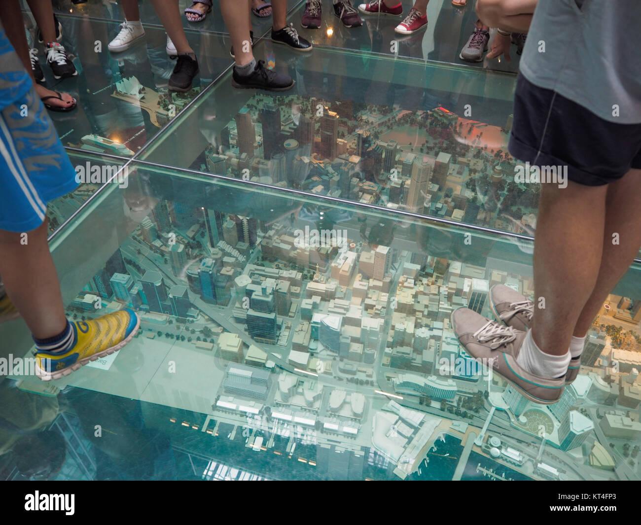 3D Model Of Sydney Under Glass Floor In Australia